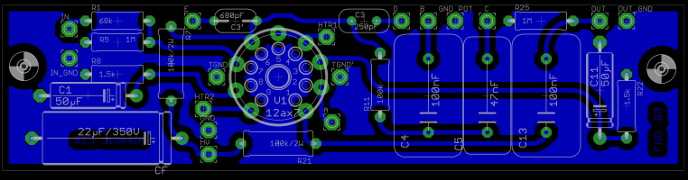 Preamp PCB layout